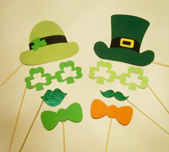 Photo Booth Props 8 pc St Patricks Day Props!