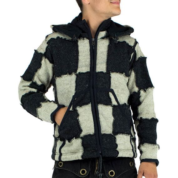 HILKA Veste en laine pour homme, intérieur doublé polaire, veste ...
