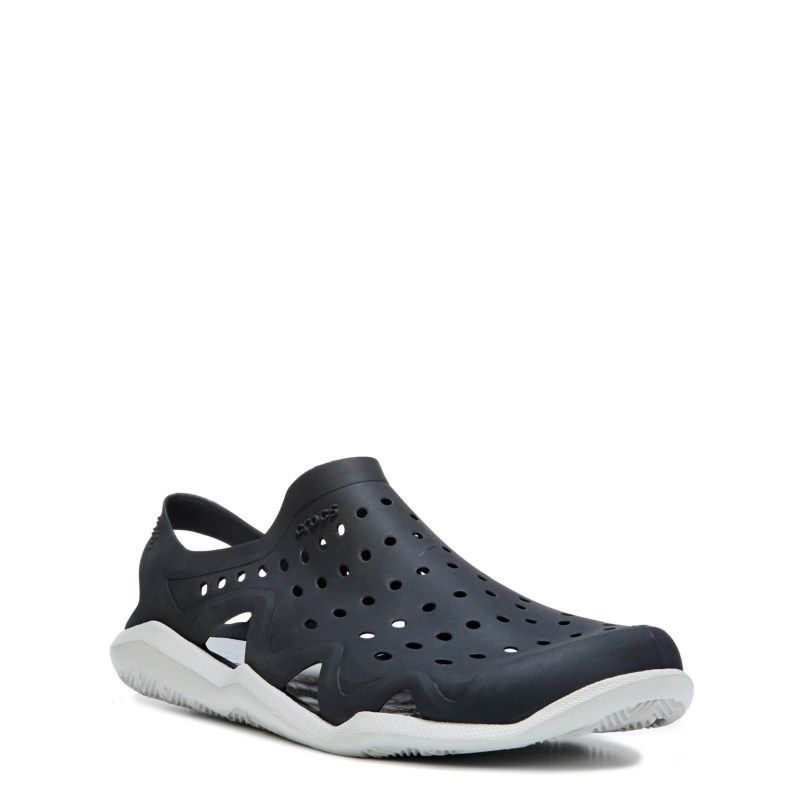 7058e246969f Crocs Men s Swiftwater Wave Sandals (Black Pearl) - 10.0 M