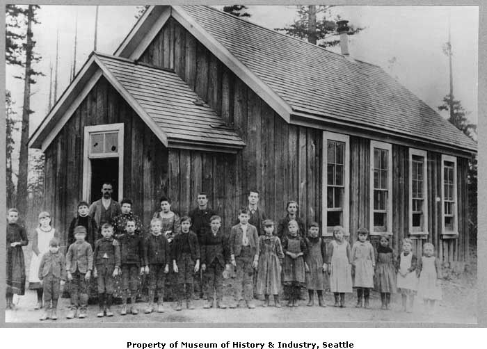 First Vashon School built on permanent ground in King County, ca. 1893