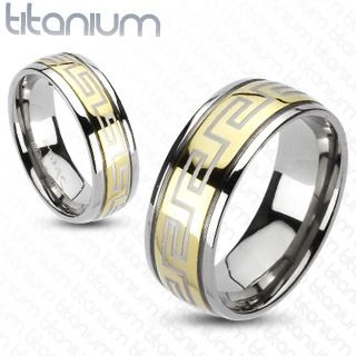 Titanium 6 mm Ridged Edge Greek Key Wedding Band Fine Jewelry Ideal Gifts For Women