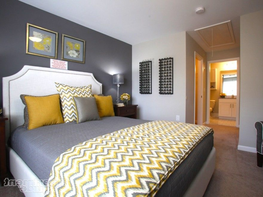 Gray Master Bedroom Decorating Ideas Gray Bedroom With Yellow Fresh Bedrooms Decor Ideas Bedroom Colors Bedroom Inspirations Bedroom Design