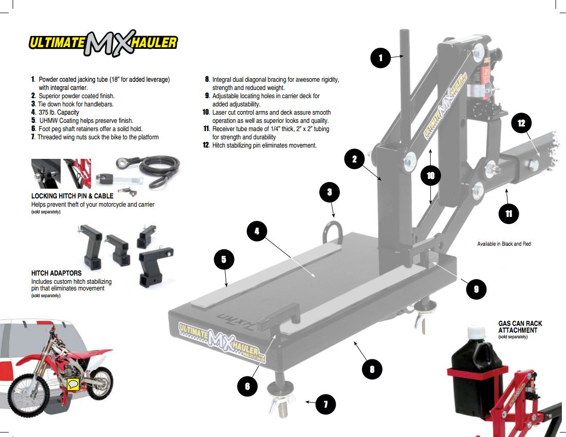 Ultimate MX Hauler, hitch mount motorcycle carrier - By Ultimate ...