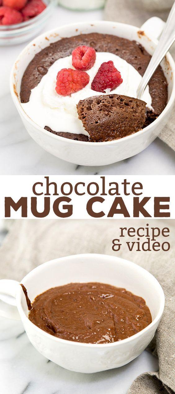 Flourless Chocolate Mug Cake | Mug recipes, Chocolate mug ...