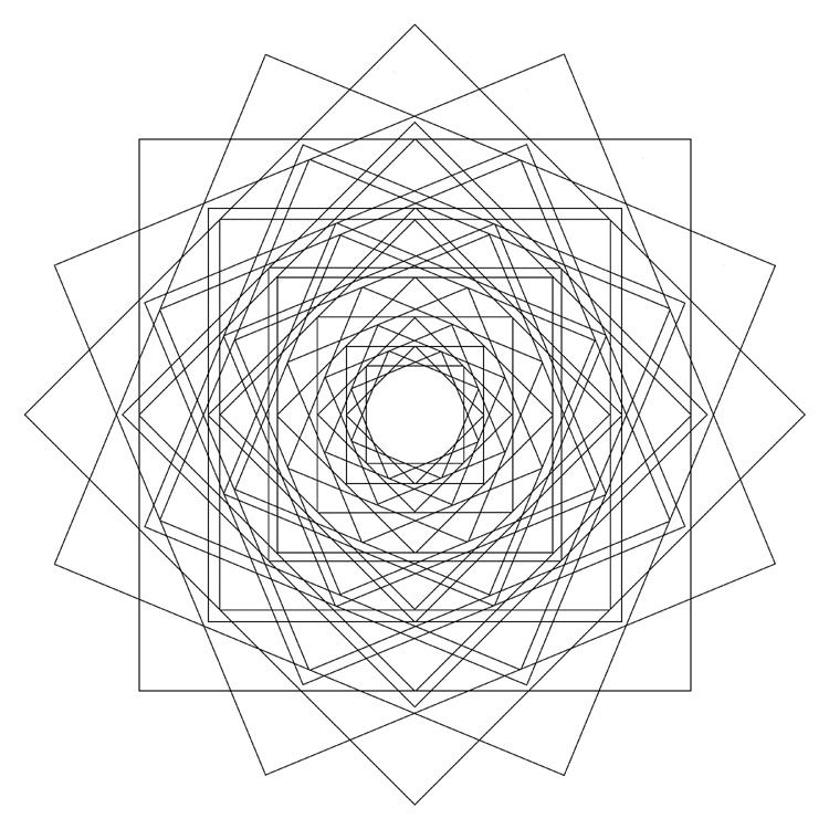 Quadrati Rotanti Geometric Drawing Sacred Geometry Geometry E