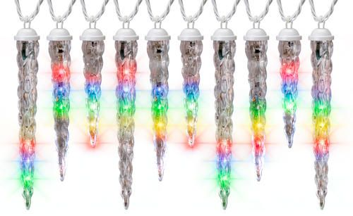 10 Count LED Multi \u0027Shooting Star\u0027 Icicle Light String at Menards
