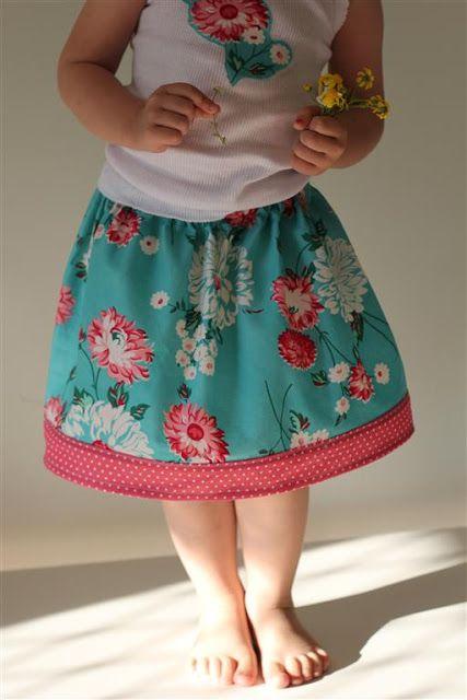Easy Peasy Overlock/Serge -Free Child\'s Skirt Tutorial | Nähen Jana ...