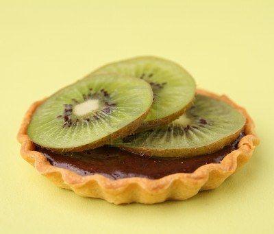 Tarte au kiwi et au chocolat