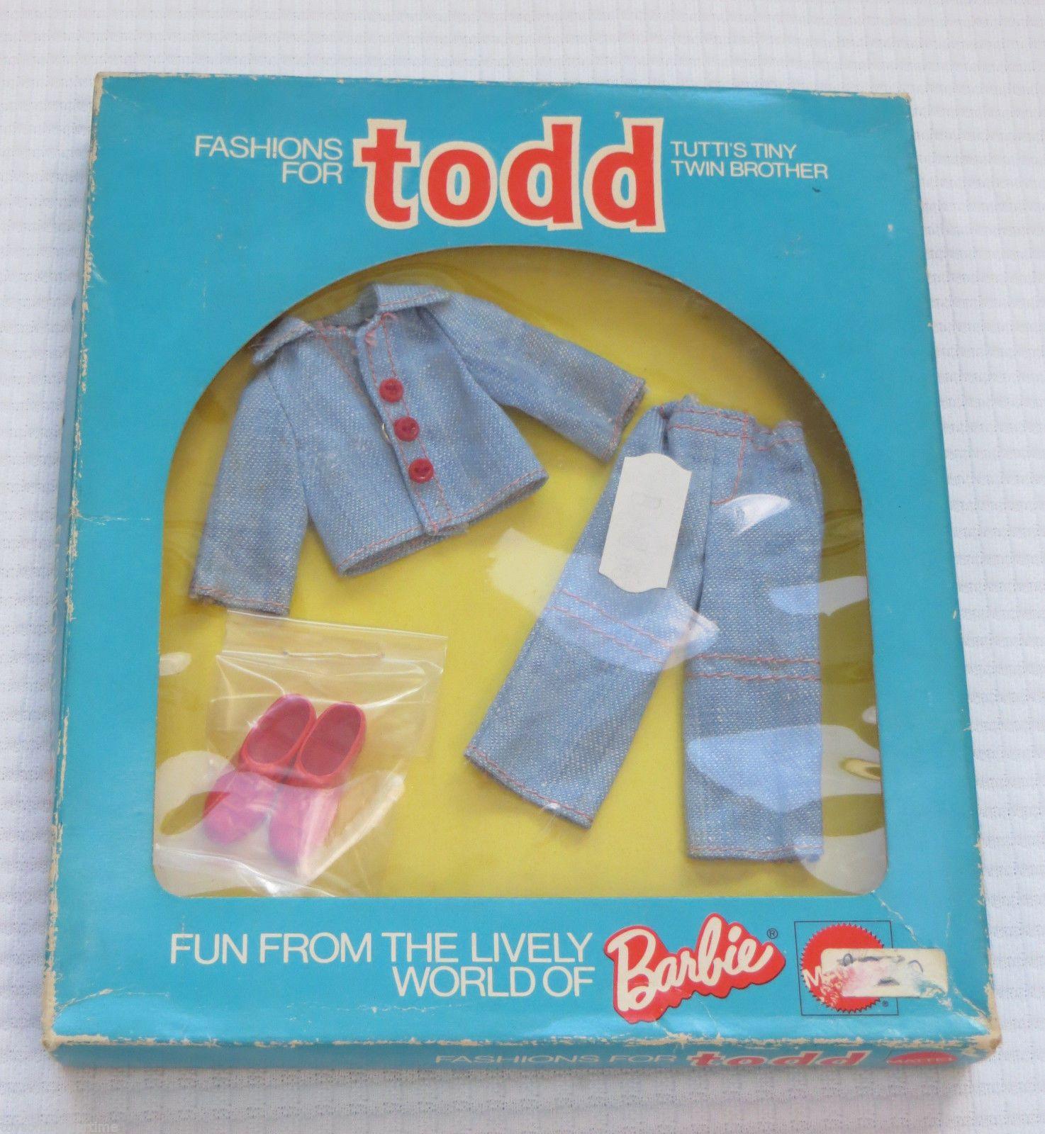 Mattel Todd Vintage European Fashion Outfit #7984 Jeans NRFB Tutti Barbie 1973 | eBay