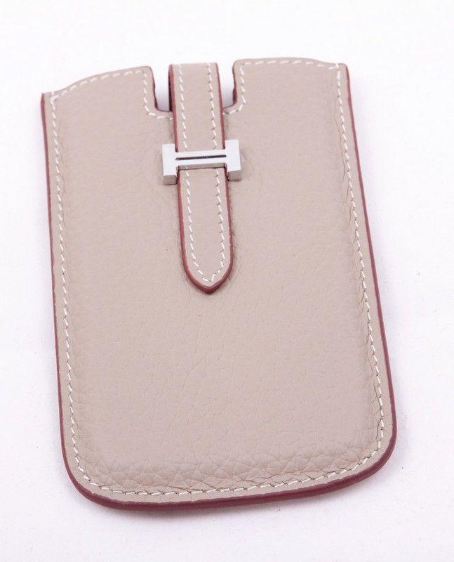 Чехол для iPhone 4 4s Hermes (Гермес) кожаный, светло-серого цвета ... d2d25a552ca