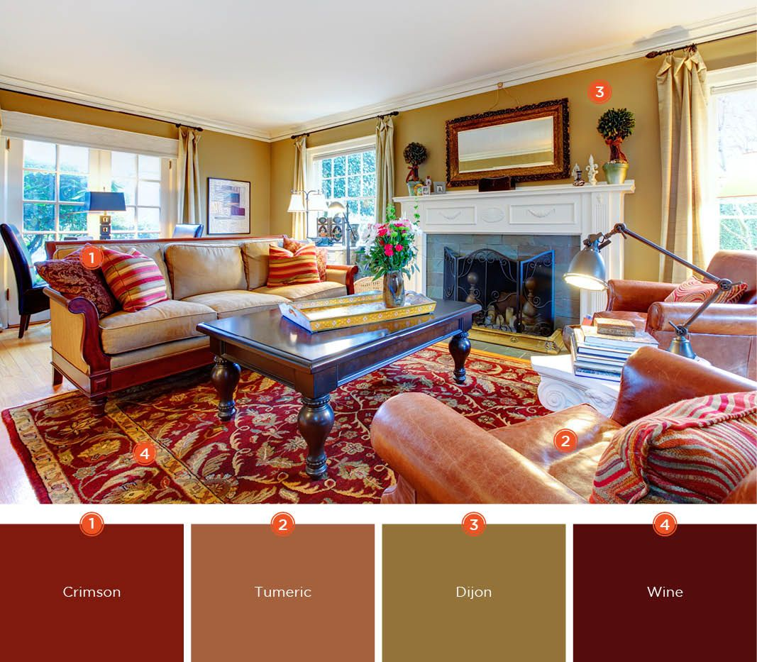 Warm And Inviting Living Room Colors