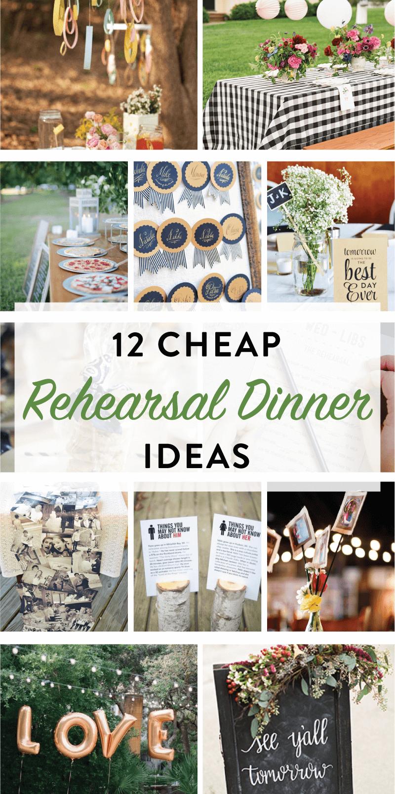 12 Cheap Rehearsal Dinner Ideas | Wedding rehearsal dinner decorations, Rehearsal  dinner decorations, Bbq rehearsal dinner