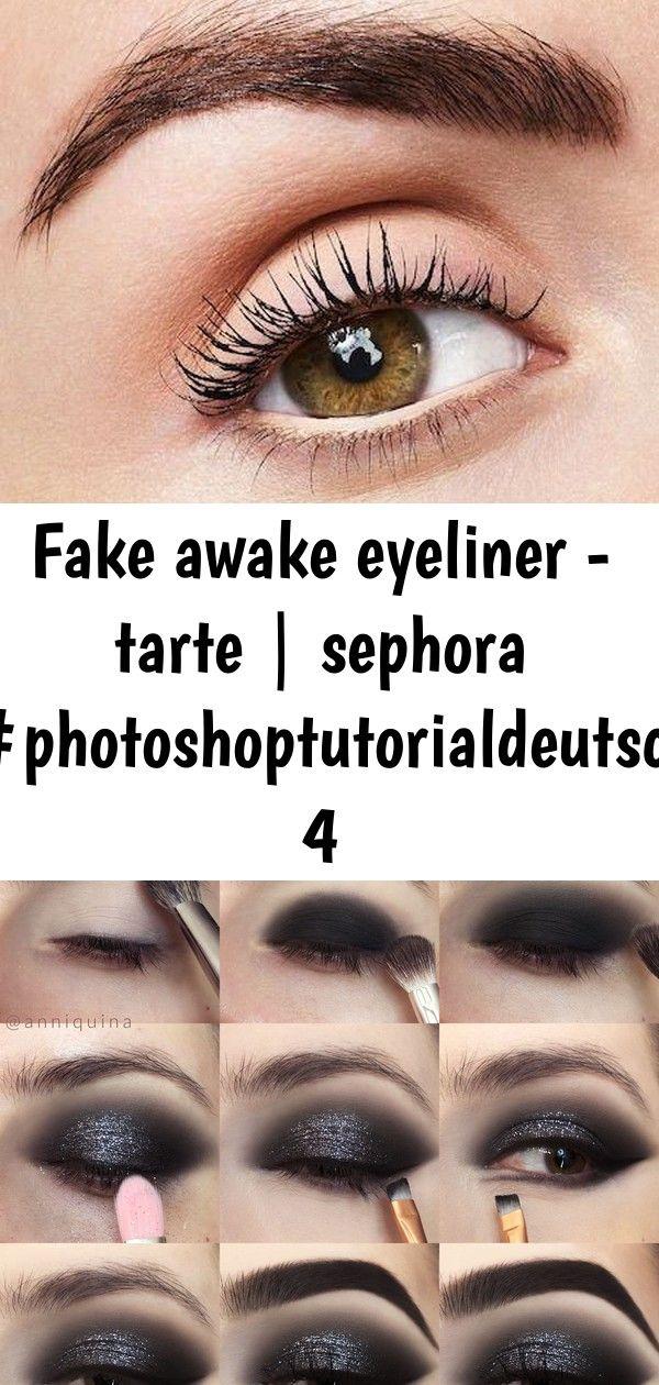 Fake awake eyeliner - tarte | sephora #photoshoptutorialdeutsch 4 #glittereyeliner