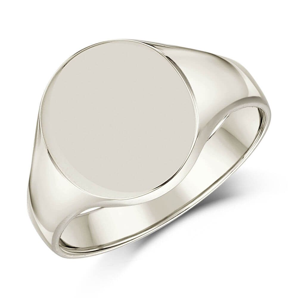 f5aa95c0dba95 Mens Sterling Silver 16mm x 13mm oval Signet Ring in 2019   mens ...