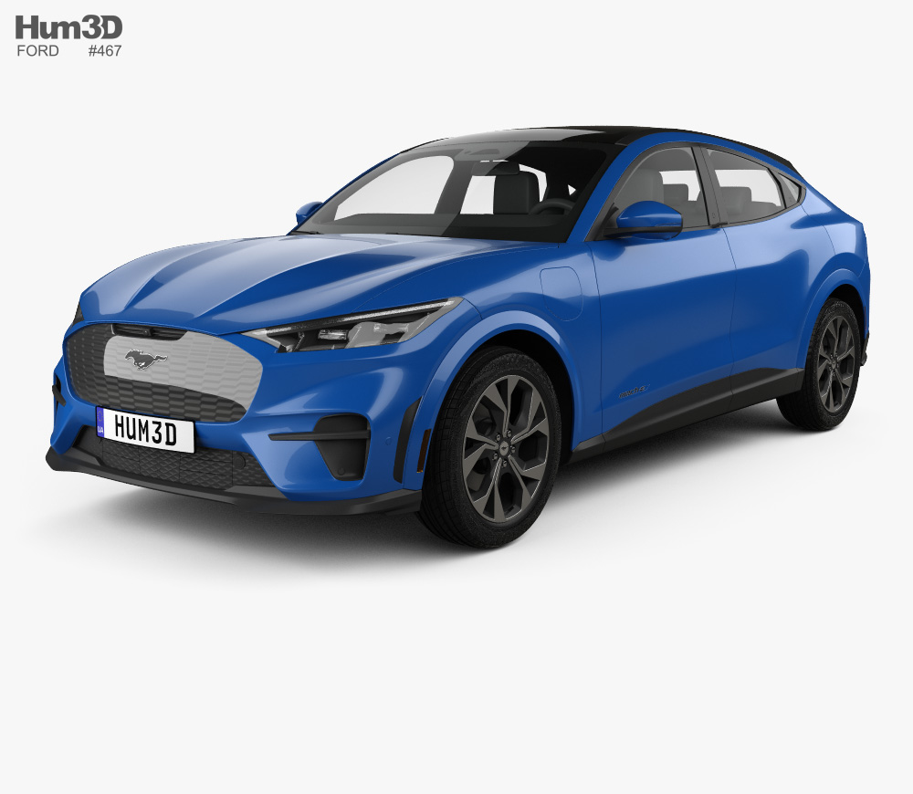 3d Model Of Ford Mustang Mach E 2021 In 2020 Ford Mustang 3d
