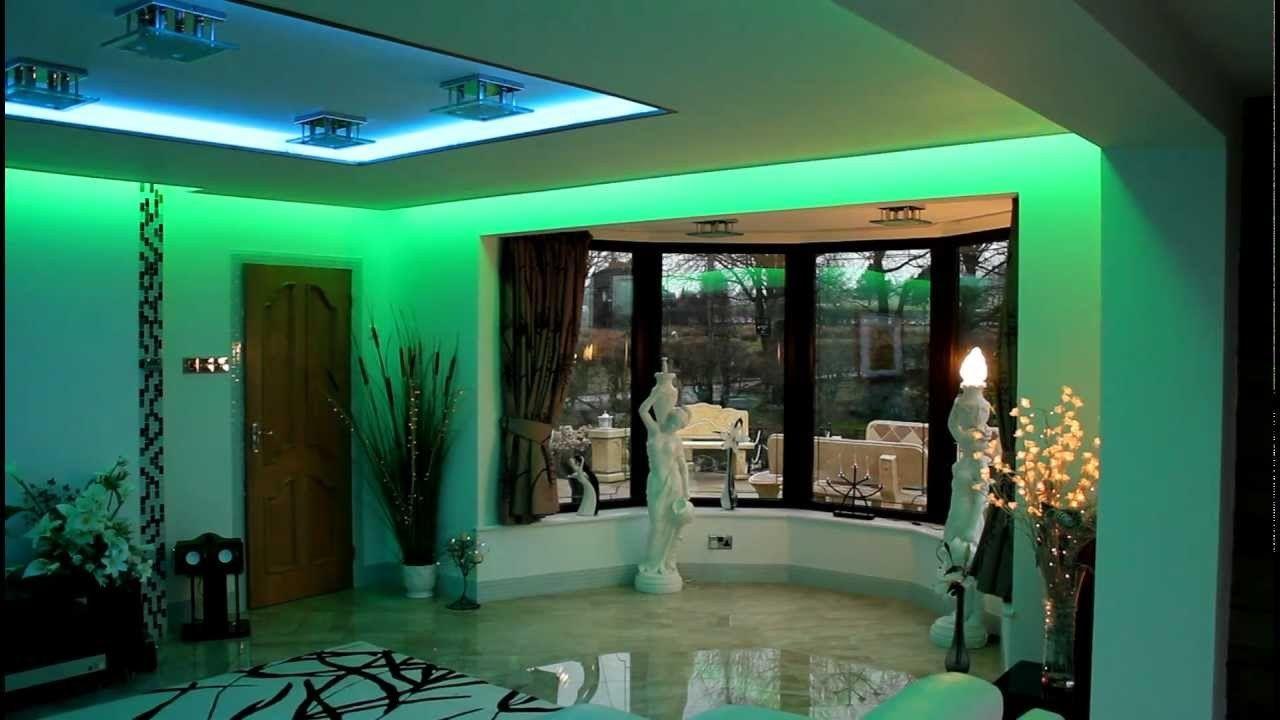 Lighting Ideas Mood Living Room Design With Blue