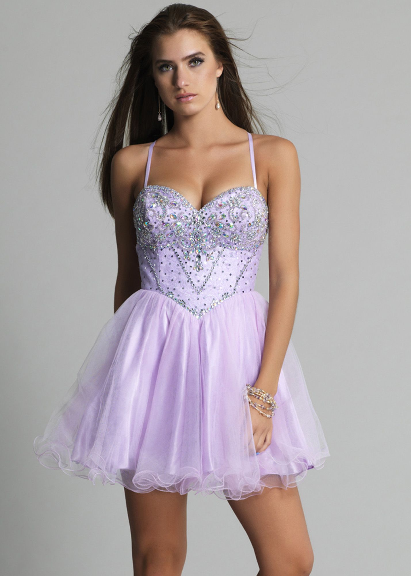 Dave u johnny lilac beaded tulle prom dresses online dresses