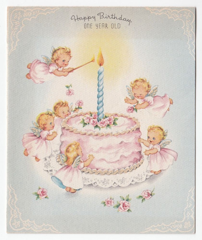 Angels Decorate Light Cake Birthday Card Met Afbeeldingen