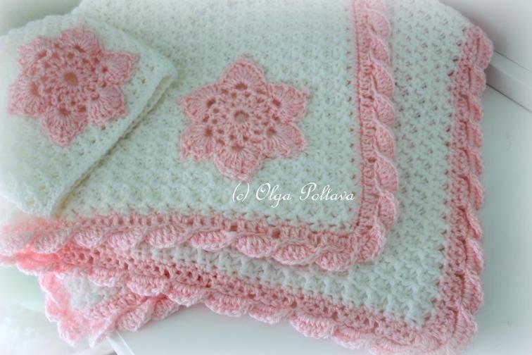 Star Stitch Crochet Baby Blanket and Hat | Craftsy