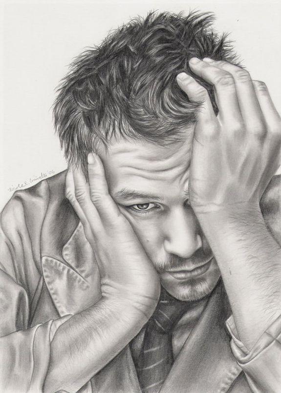 Heath Ledger   My Style Pinboard   Pinterest   Arte famoso, Lápiz y ...
