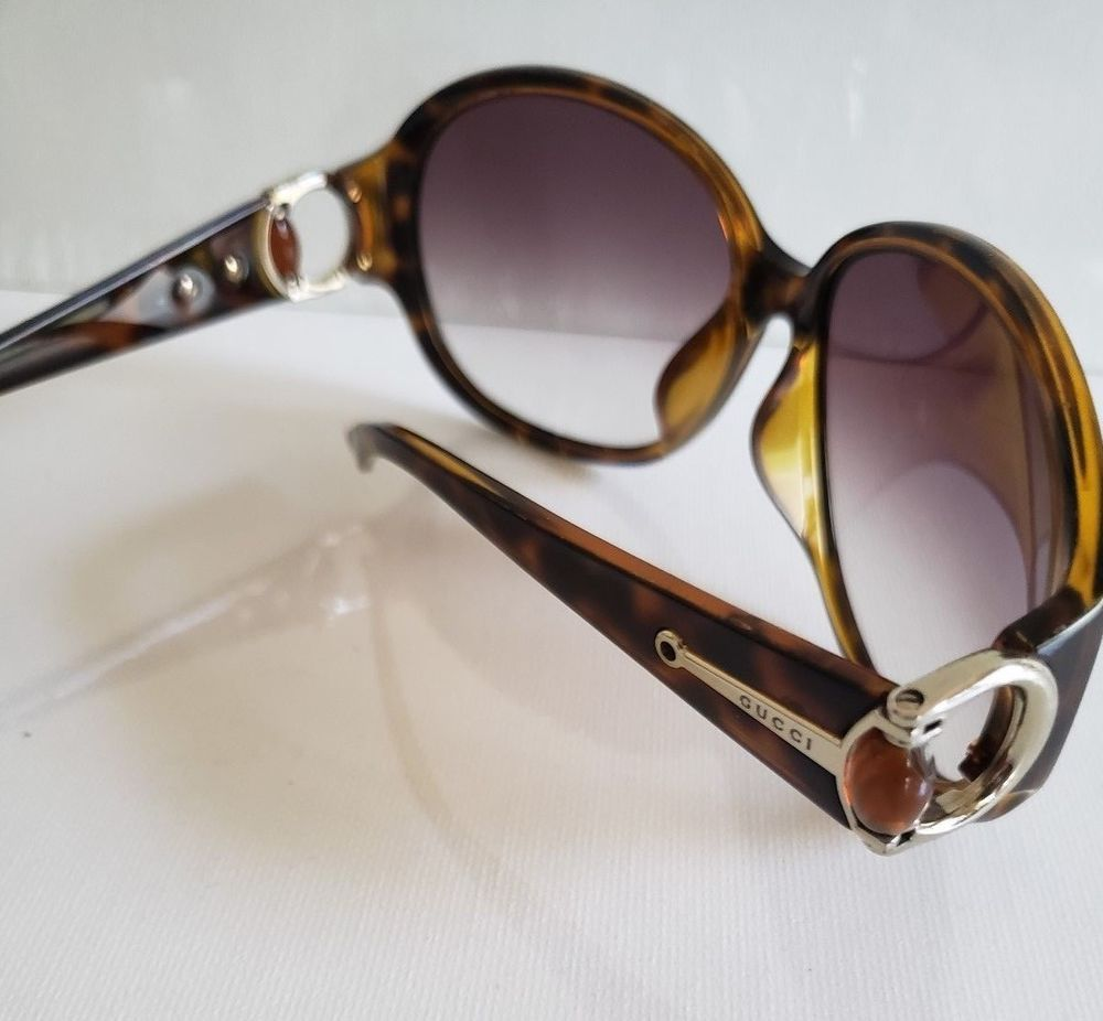 b5766491914 Gucci Sunglasses GG Brown Tortiose Gold Gucci Horseshoe w Bead Vintage  AWESOME!  fashion  clothing  shoes  accessories  womensaccessories ...