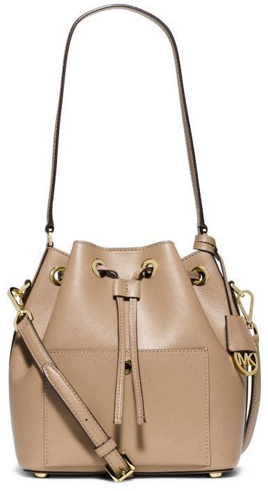 88aca6956700 MICHAEL Michael Kors Greenwich Medium Saffiano Leather Bucket Bag ...