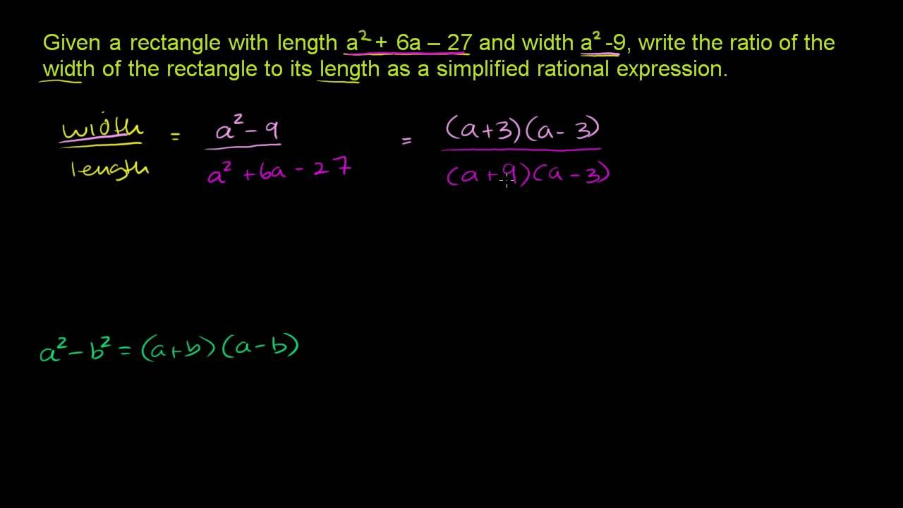 Simplifying rational expressions 1 rational expressions