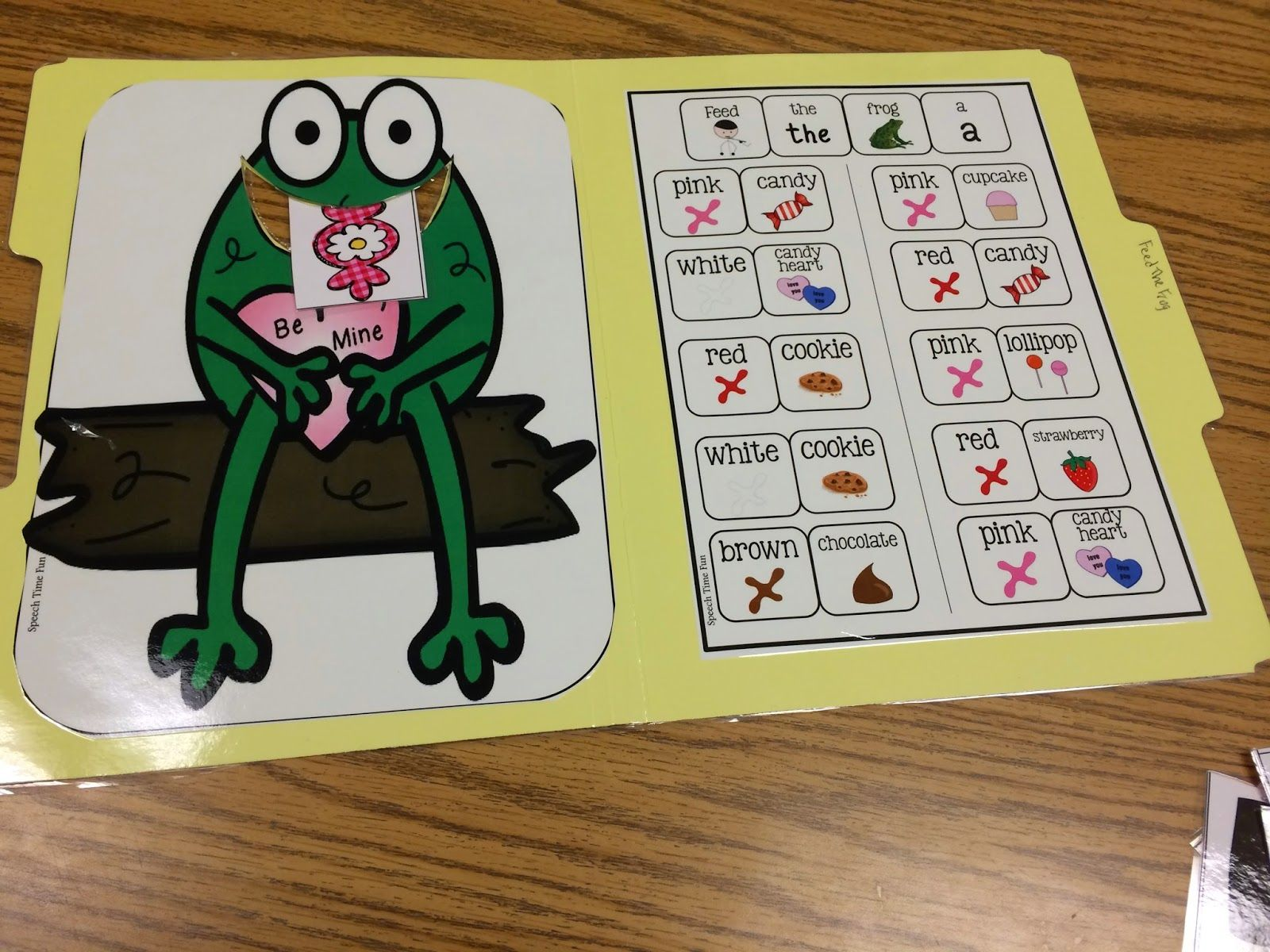 Feed The Valentine Frog File Folder Activity Great For