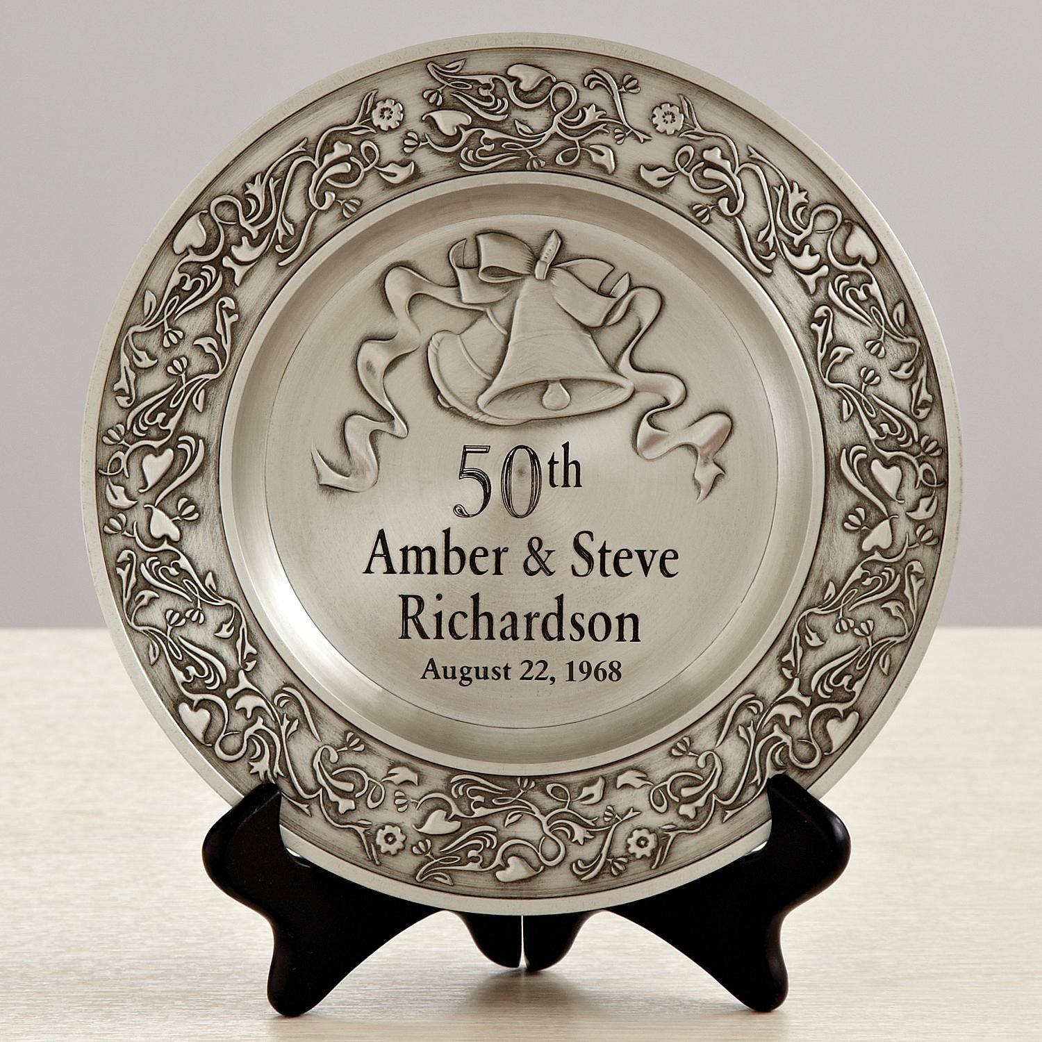 d0f4fc82cf Anniversary Pewter Plate | Products | 50 wedding anniversary gifts ...