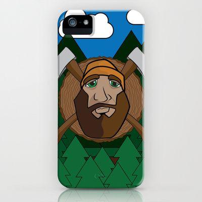 Lumberjack Scene iPhone Case by HeyTrutt - $35.00
