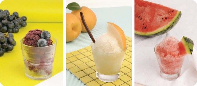 Freeze fruit juice to make a sorbet. Awesome for summer and so, so easy.