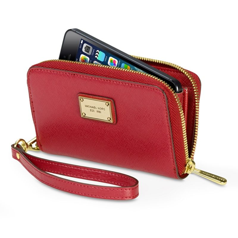 4b3157836108 MICHAEL Michael Kors Essential Zip Wallet for iPhone 5 - Apple Store (UK)