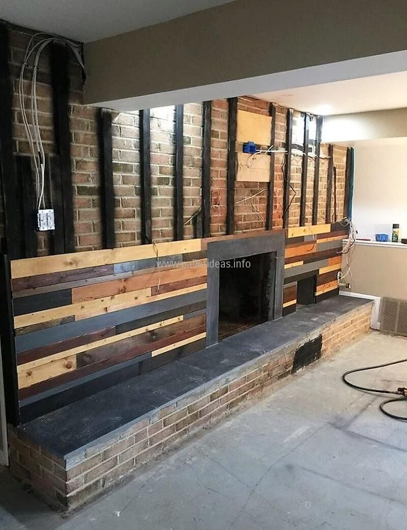 Recycled Pallets Wall Diy Furniture Ideas Cottage