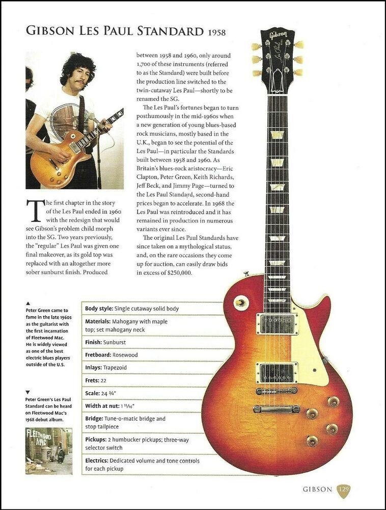 Fleetwood Mac Peter Green Gibson Les Paul Standard