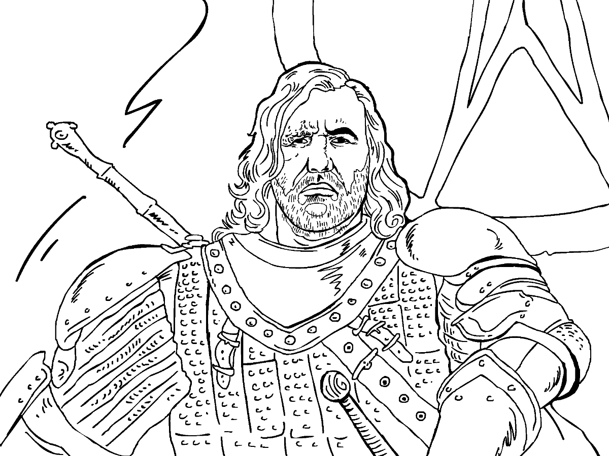Game of Thrones Colouring in Page The Hound Coloring