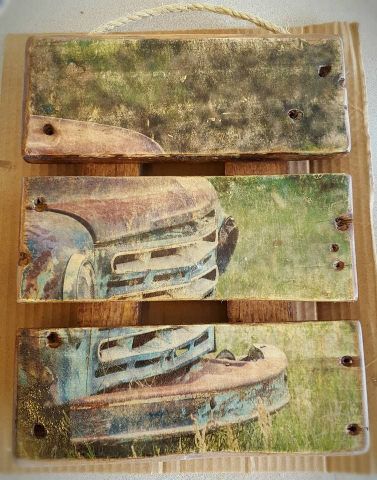 My First Image Transfer To Wood Using Modge Podge The Photo Is