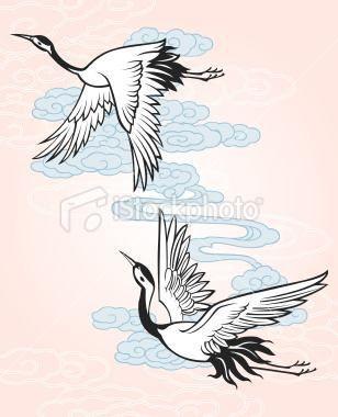 Awesome Flying Crane Tattoos Designs Jpg 308 380 Crane Tattoo Japanese Tattoo Art Crane Drawing