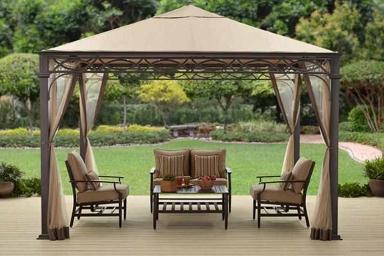 Better Homes And Gardens Courts Landing Valance Gazebo 12 X 10 Bh15 092 099 16 Replacement Canopy Cover Top Fabric Gazebo Canopy Gazebo Replacement Canopy
