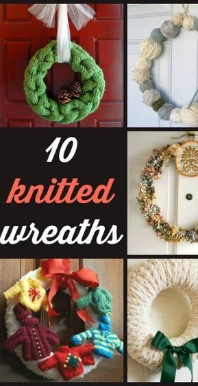 10 Knitted Wreaths Free Pattern Wreaths And Patterns