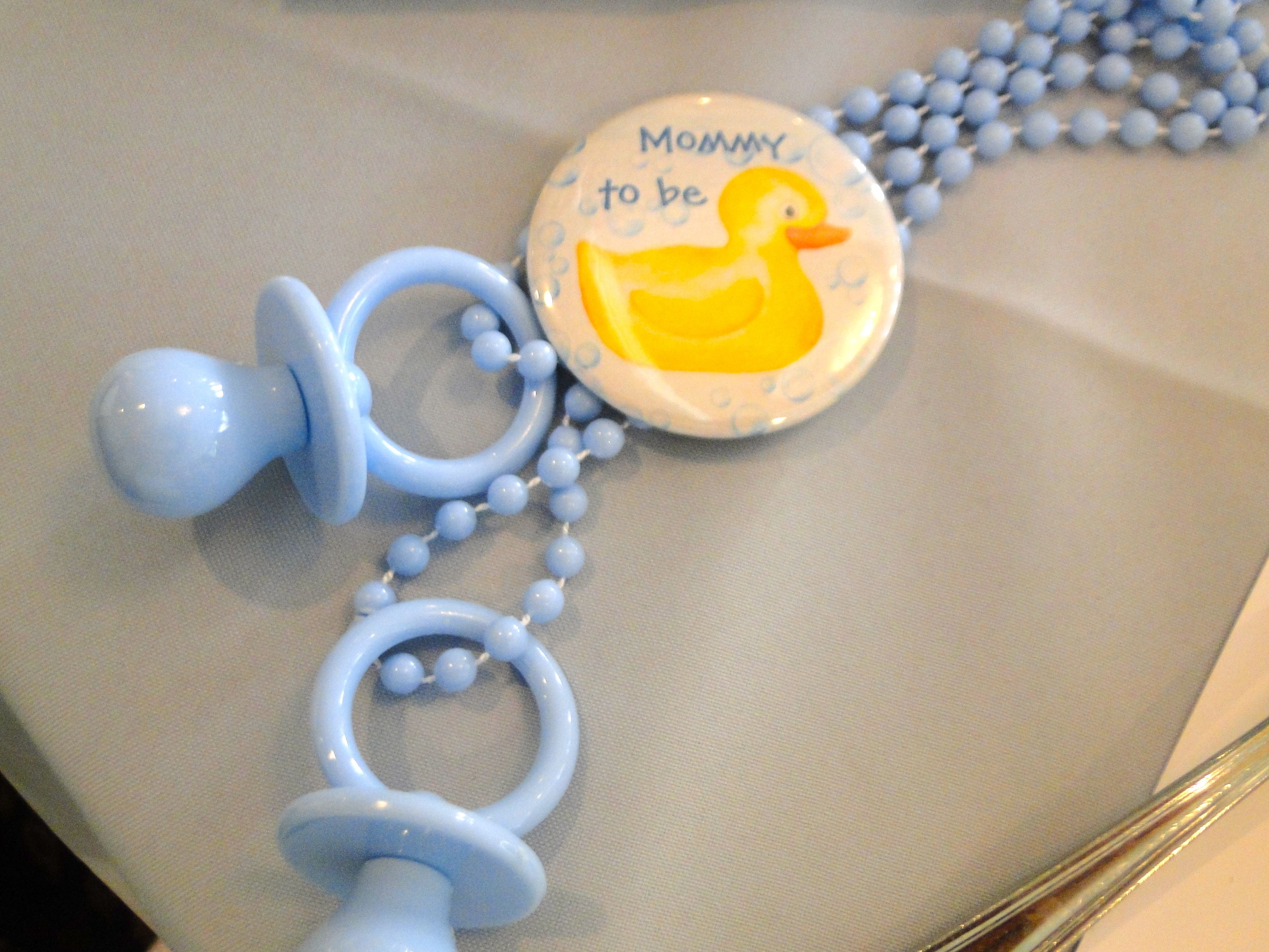 Rubber Ducky Baby Shower for Boy. Yellow and Blue colors. Rubber Ducky Decor created by Cathy Sattler.