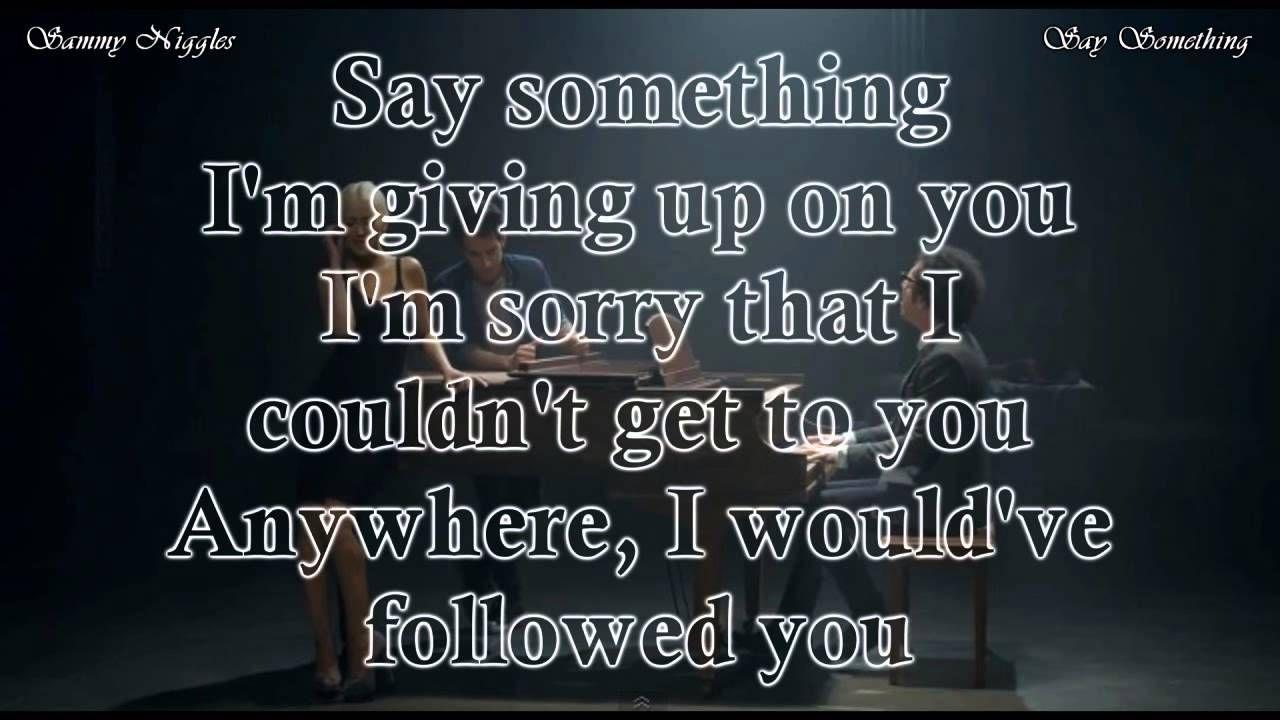Say Something A Great Big World Christina Aguilera Karaoke
