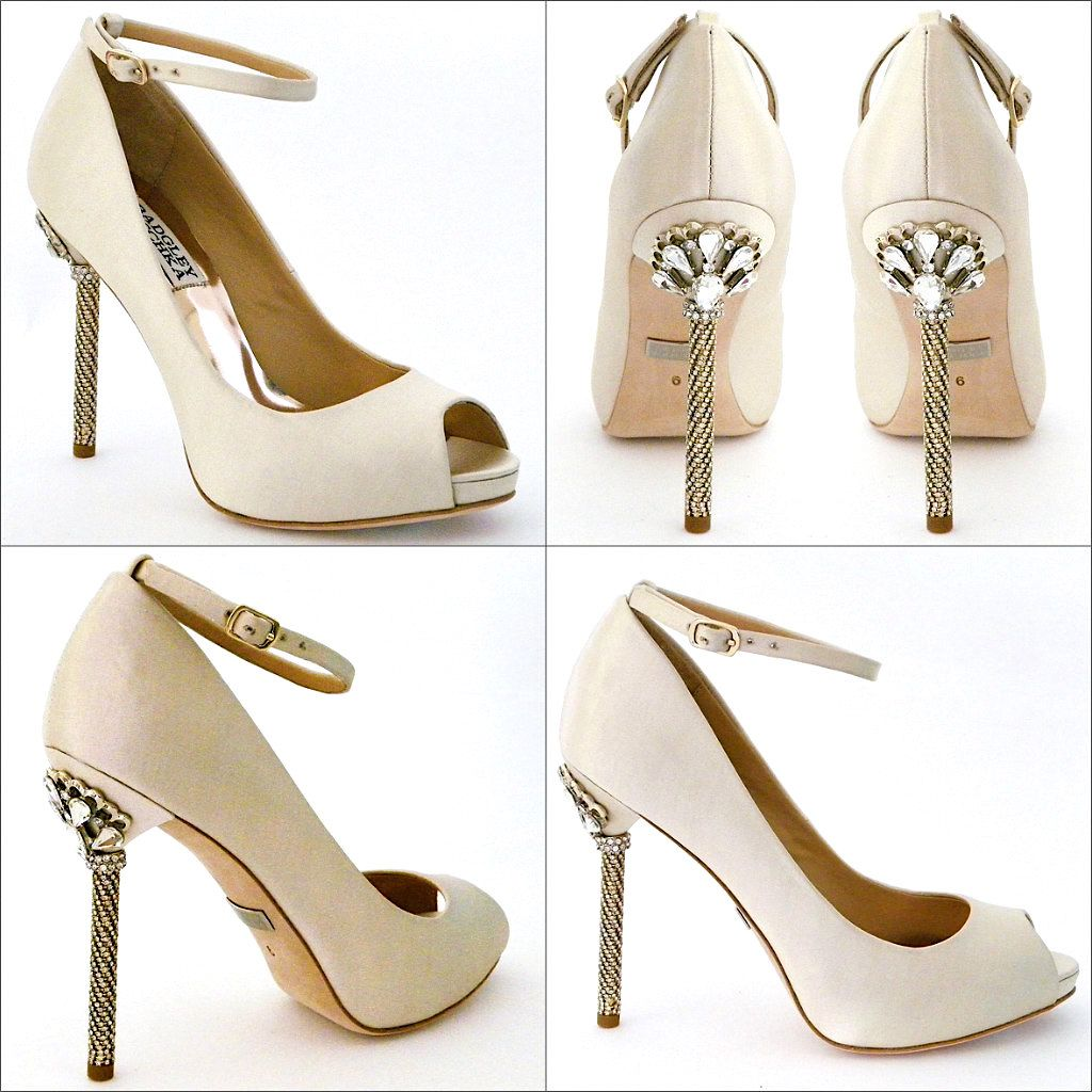 Badgley Mischka Diego Ivory 6 5M Wedding Shoes