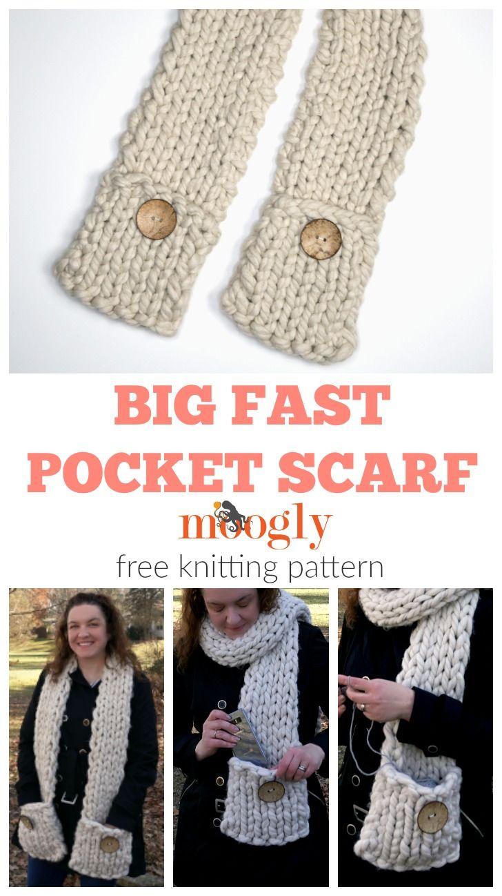Big Fast Pocket Scarf   Crochet shawl, Crochet hats, Crochet