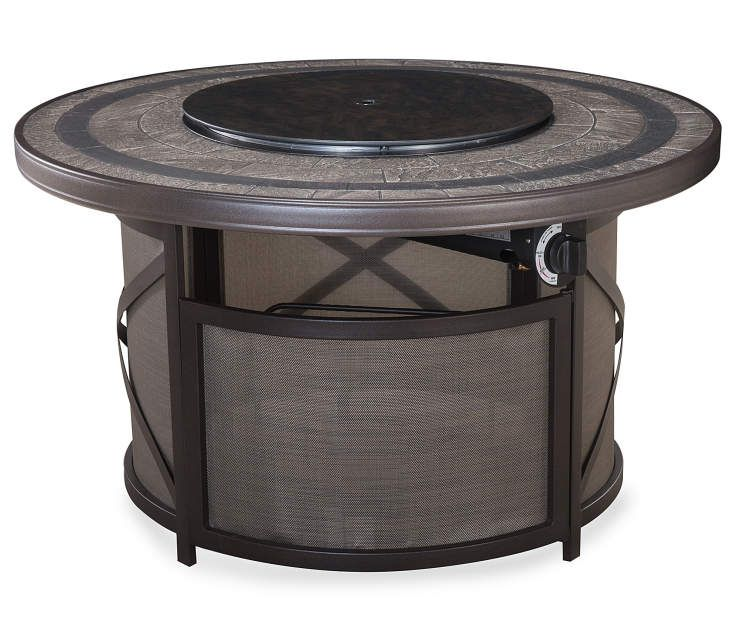 Best 43 Mesa Gas Fire Pit Patio Table With Lazy Susan At Big 400 x 300