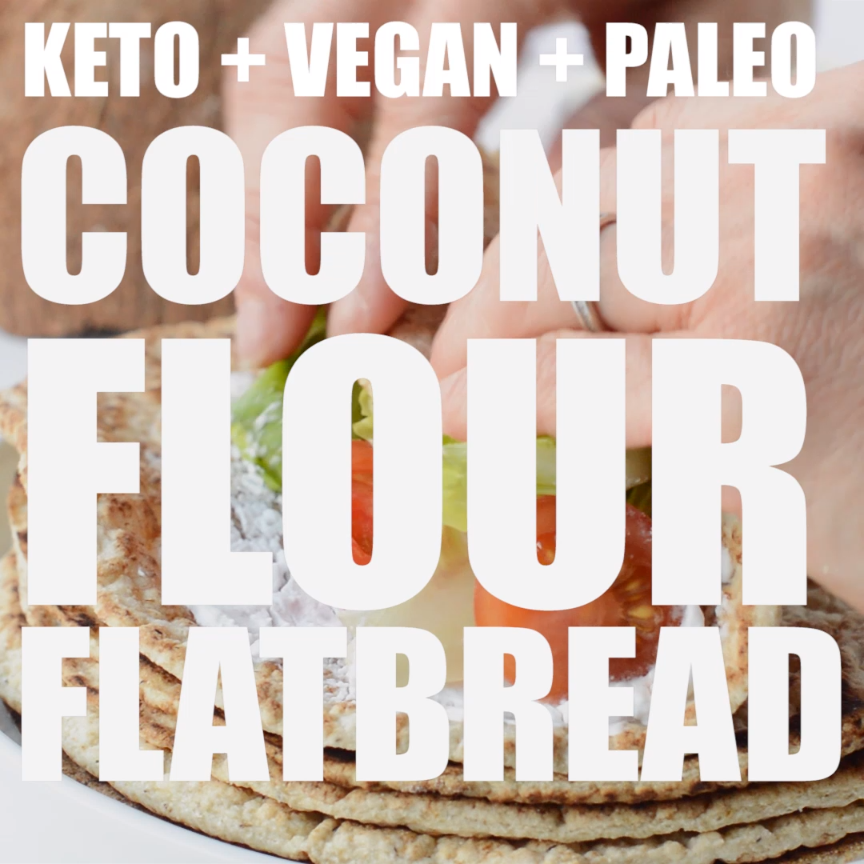 Coconut Flour Keto Tortilla only 5 ingredients, no