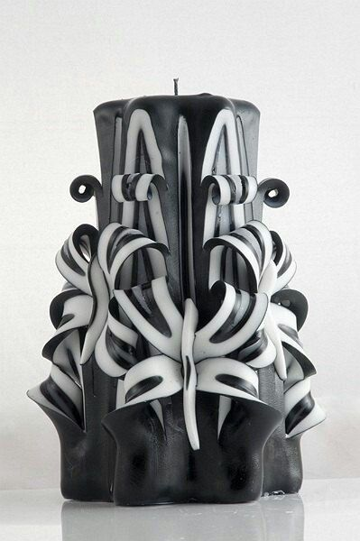 Pin By Liz Williams On Candles Candle Carving Black Candles Candle Art