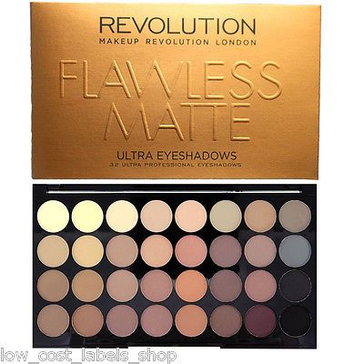 Details about Makeup Revolution Palette 32 Shade Eye shadow Flawless Matte