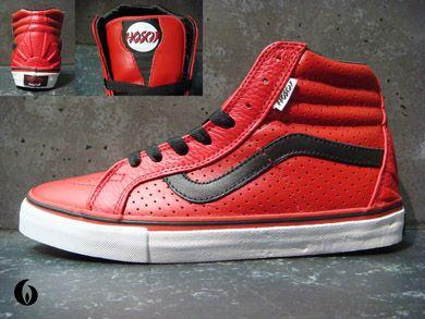 654a2c747d2217 Vans Sk8-Hi Vert Pro Hosoi Hammerhead in Red and Black