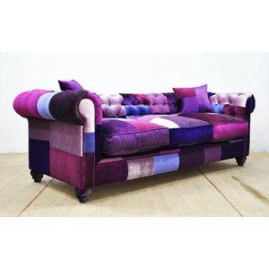Chesterfield Patchwork Sofa Purple Love Tapizar Muebles Muebles Muebles Convertibles