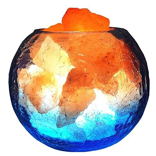 YANKAN Himalaya-Salzlampe, Glas Anion Dimmen Licht Nachtlicht, USB ...